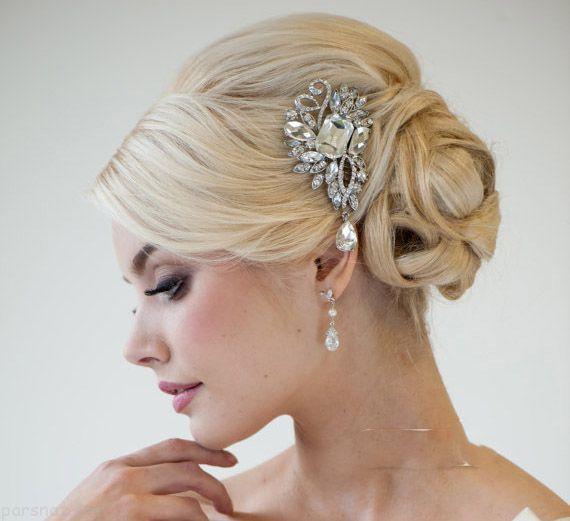 جذاب ترین مدل های تاج سر عروس از جنس پر و مروارید