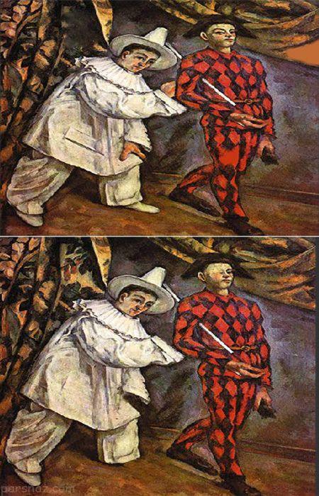 تست هوش جالب یافتن تفاوت در نقاشی ها