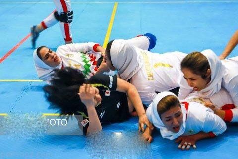 عکس های دیدنی دختران ایران و ژاپنی در مسابقات کبدی