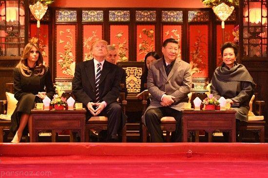 ملانیا ترامپ با استایل شرقی در سفر به چین