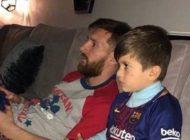 دوئل جنجالی لیونل مسی و پسرش +عکس