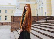 دختر جذاب روس که زیباترین موهای دنیا را دارد
