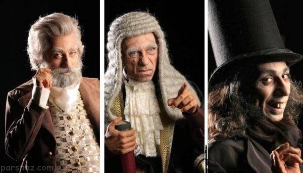 عجیب ترین گریم های بازیگران مشهور در یک نمایش