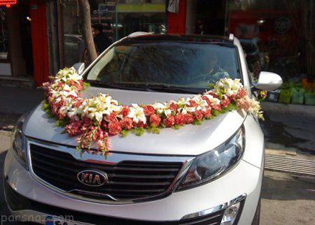 شیک ترین و جدیدترین تزیین و گل آرایی ماشین عروس