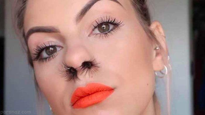 مدل های عجیب آرایش دختران امروزی +عکس