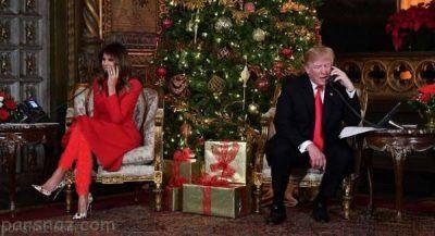 کریسمس لاکچری دونالد و ملانیا ترامپ در مارالاگو