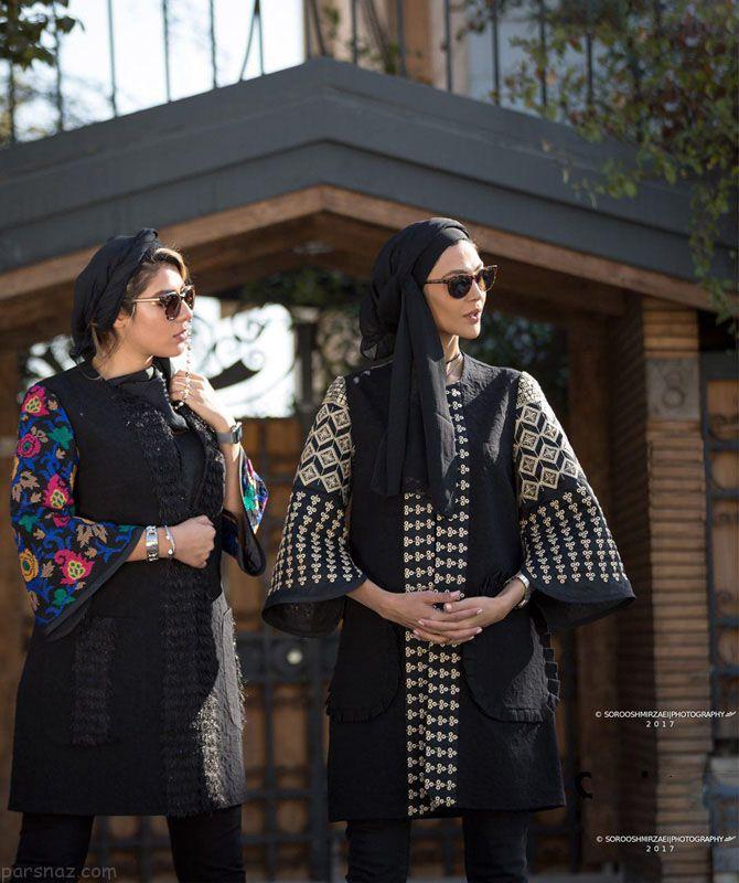 بهترین مدل های مانتو زمستانی برند Sathiya