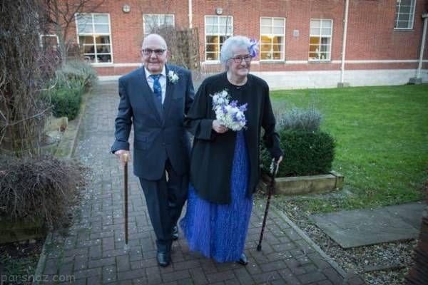 مراسم عروسی این زوج پیر در رسانه ها جنجالی شد