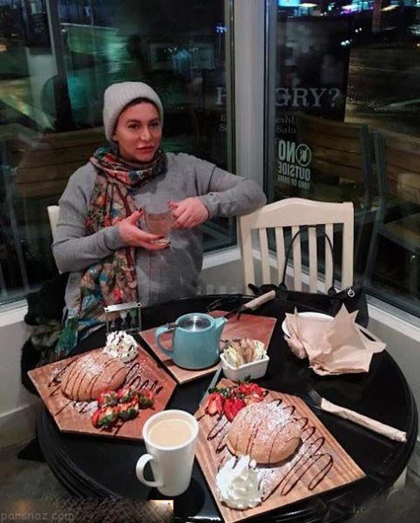 سفر فریبا نادری به کانادا برای تولد فرزندش +عکس