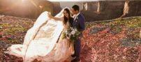 عکس های جالب از مراسم ازدواج این زوج بین زمین و آسمان