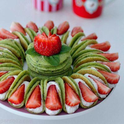 روش تهیه کرپ کیک اسفناجی خوشمزه و عالی