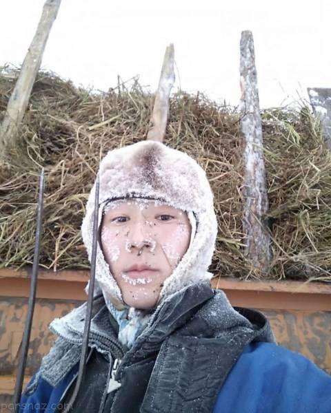 یخ زدن آدم ها در سردترین روستای دنیا +عکس