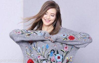 بهترین مدل های بلوز بافت دخترانه شیک 97 و 2018