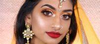 دختر زیبای هندی با گریم شخصت های دیزنی