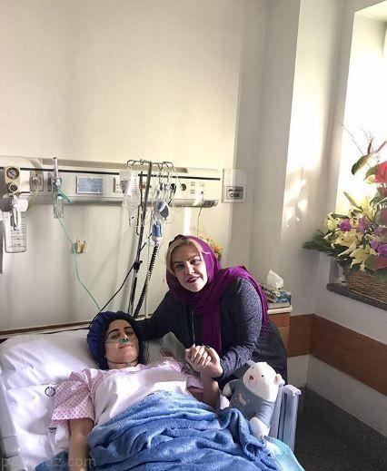 تصاویری از ملاقات ستاره ها از الناز شاکردوست در بیمارستان