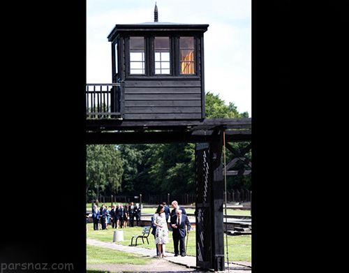 عکس های جالب از بازدید کیت میدلتون و شاهزاده ویلیام از اردوگاه مرگ