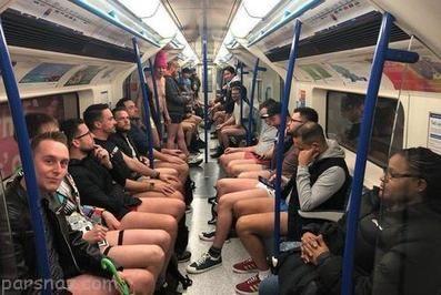 مردان و زنان در روز جهانی مترو بدون شلوار +عکس