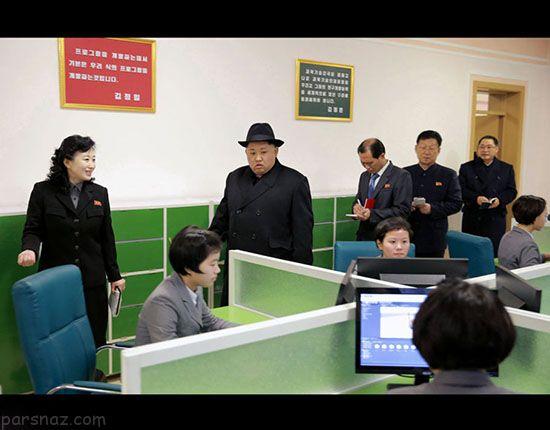 عکس هایی از بازدید رهبر کره شمالی از دانشکده زنان
