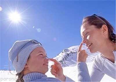 لزوم استفاده از کرم ضد آفتاب حتی در زمستان