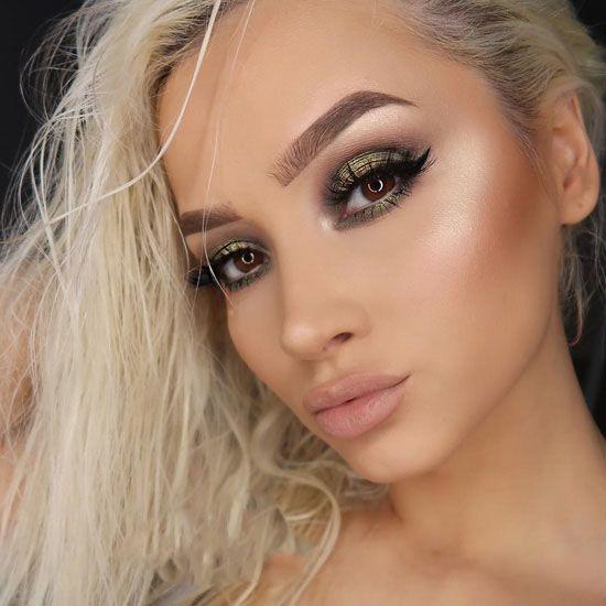 آرایش صورت با جذاب ترین رنگ ها مدل 97 و 2018