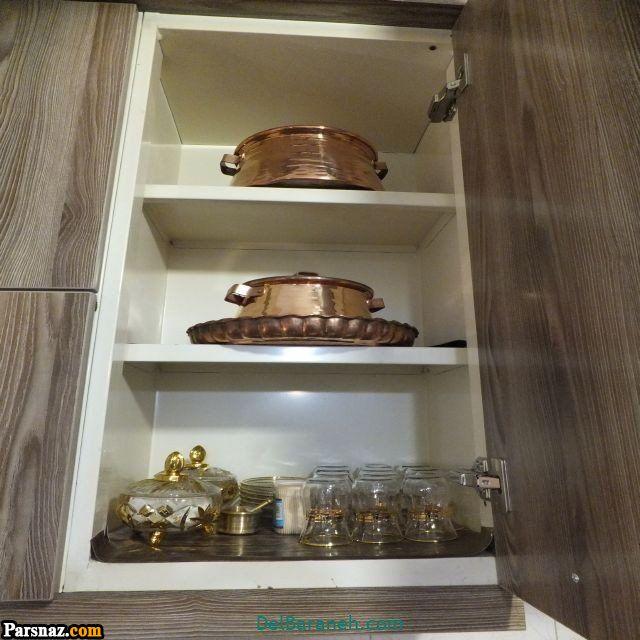 چیدمان جهیزیه عروس (44 چیدمان) | انواع مدل تزیین شیک آشپزخانه جهیزیه عروس