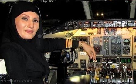 اولین و جوان ترین خلبان زن ایرانی بعد انقلاب را بشناسید +عکس