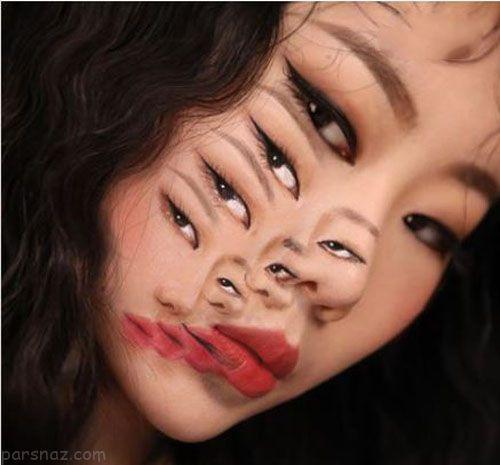 با دختر هزار چهره زیبای کره ای آشنا شوید +عکس