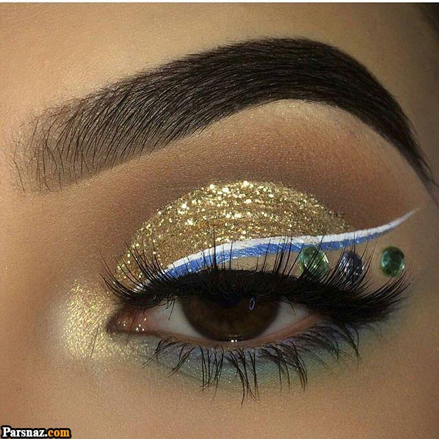 آرایش چشم و ابرو 2019 |مدل های آرایش چشم مجلسی و خط چشم 98