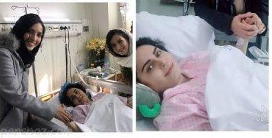 الناز شاکردوست در بیمارستان |عکس های عیادت افراد مشهور از الناز شاکردوست