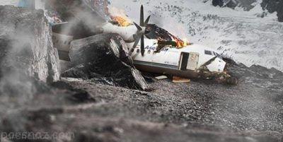 اولین عکس های لاشه هواپیمای سقوط کرده تهران یاسوج