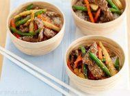 آموزش درست کردن خوراک گوشت چینی رژیمی