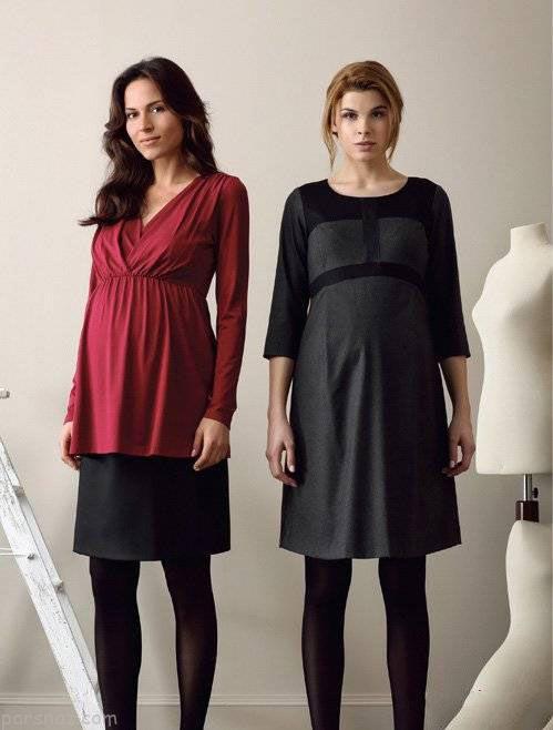 لباس بارداری عید نوروز 98  مدل های لباس بارداری ویژه بهار و عید نوروز 1398