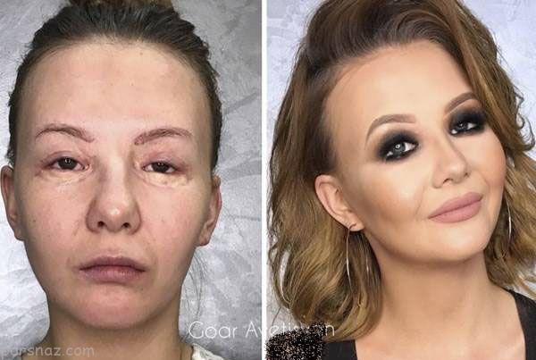 معجزه باورنکردنی آرایش روی صورت این زنان |قبل و بعد گریم و آرایش صورت