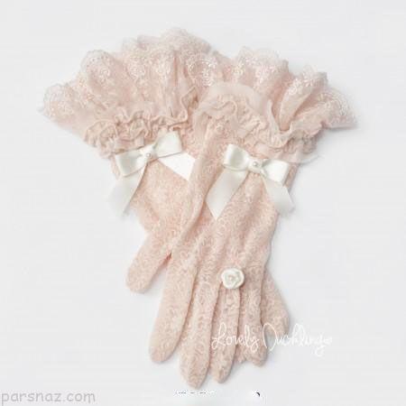 دستکش توری برای عروس خانم های زیبا |شیک ترین مدل های دستکش توری زنانه