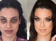 تصاویر باورنکردنی این خانم ها قبل و بعد از آرایش صورت  قبل و بعد میکاپ