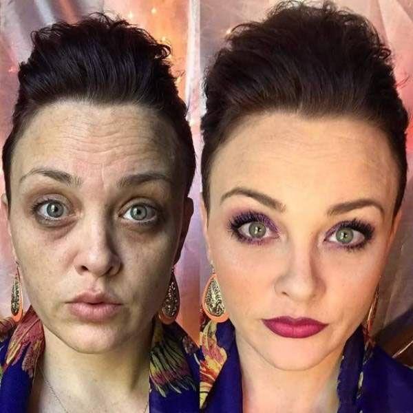 تصاویر باورنکردنی این خانم ها قبل و بعد از آرایش صورت |قبل و بعد میکاپ