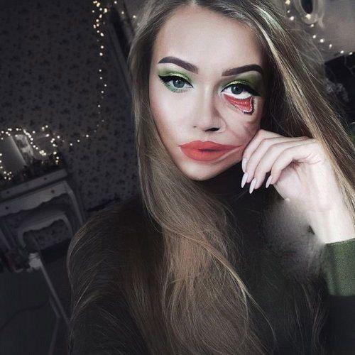 عجیب ترین گریم ها روی صورت دختر زیبای 22 ساله +عکس