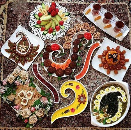 مدل های تزیین سفره افطاری ماه رمضان 97 (تزیینات سفره ماه رمضان)