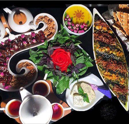 مدل های تزیین سفره افطاری ماه رمضان 98 (تزیینات سفره ماه رمضان)