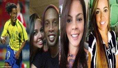 ازدواج فوتبالیست مشهور رونالدینیو با دو دختر در یک شب