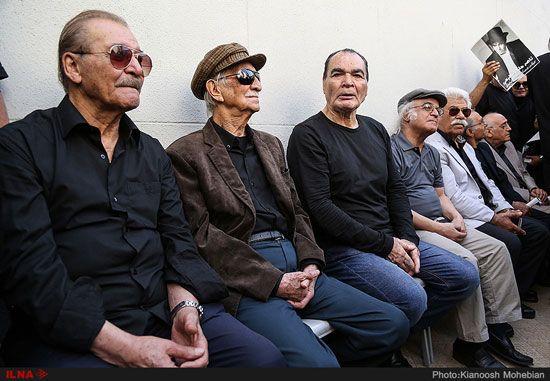 بازیگران و چهره های مشهور در تشییع ناصر ملک مطیعی