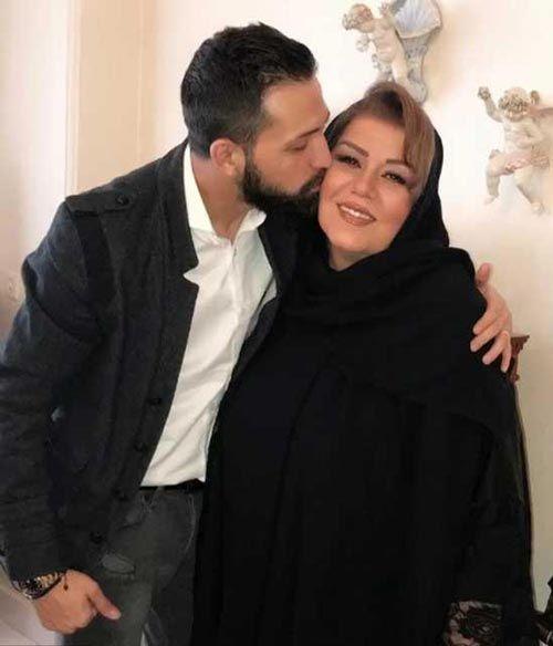 بوسه محسن افشانی و همسرش جلوی دوربین (اتفاقات جنجالی محسن افشانی)