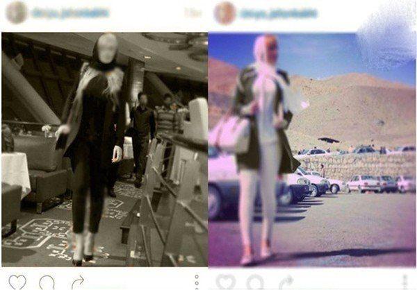 خودنمایی دختران خوش اندام ایرانی به عنوان مدل در نمایشگاه ها +عکس