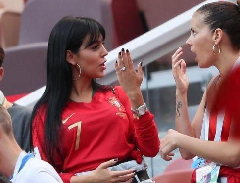حرکات عجیب نامزد کریس رونالدو در جام جهانی 2018 روسیه +عکس