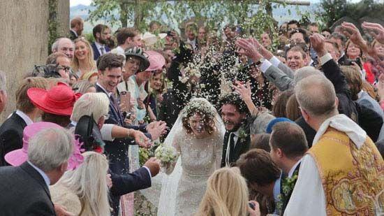 مراسم عروسي ستاره هاي عاشق سريال گيم آف ترونز game of Thrones