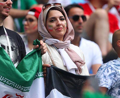 عکس های دختران و پسران ایرانی تماشاگر بازی های جام جهانی روسیه