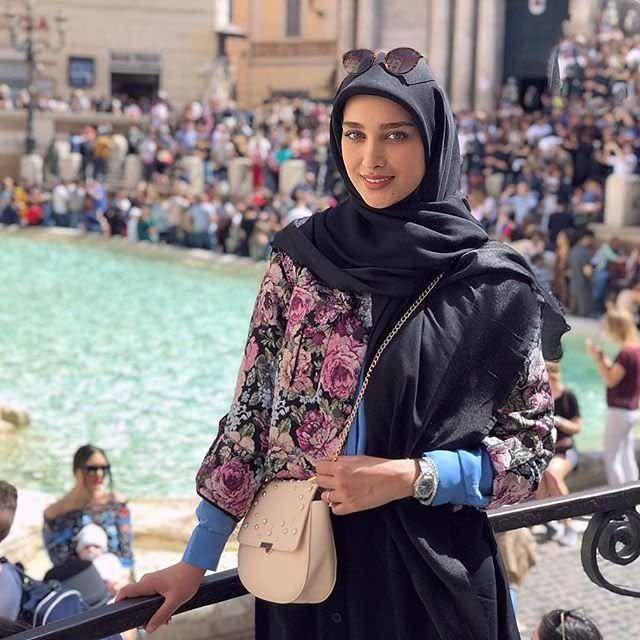 بیوگرافی سیده آناشید حسینی زیباترین مدل باحجاب ایرانی +عکس همسرش