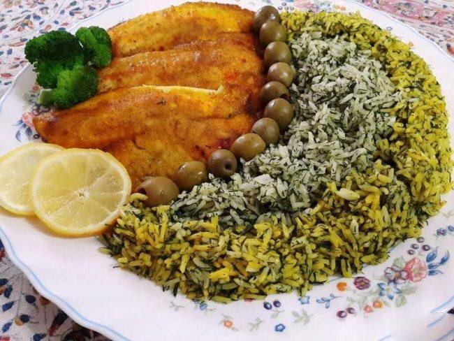 دستور پخت سبزی پلو با ماهی مجلسی + بهترین آموزش تهیه رشته پلو