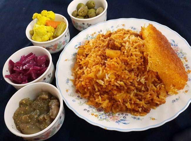 طرز تهیه کباب تابه ای مجلسی + استانبولی پلو