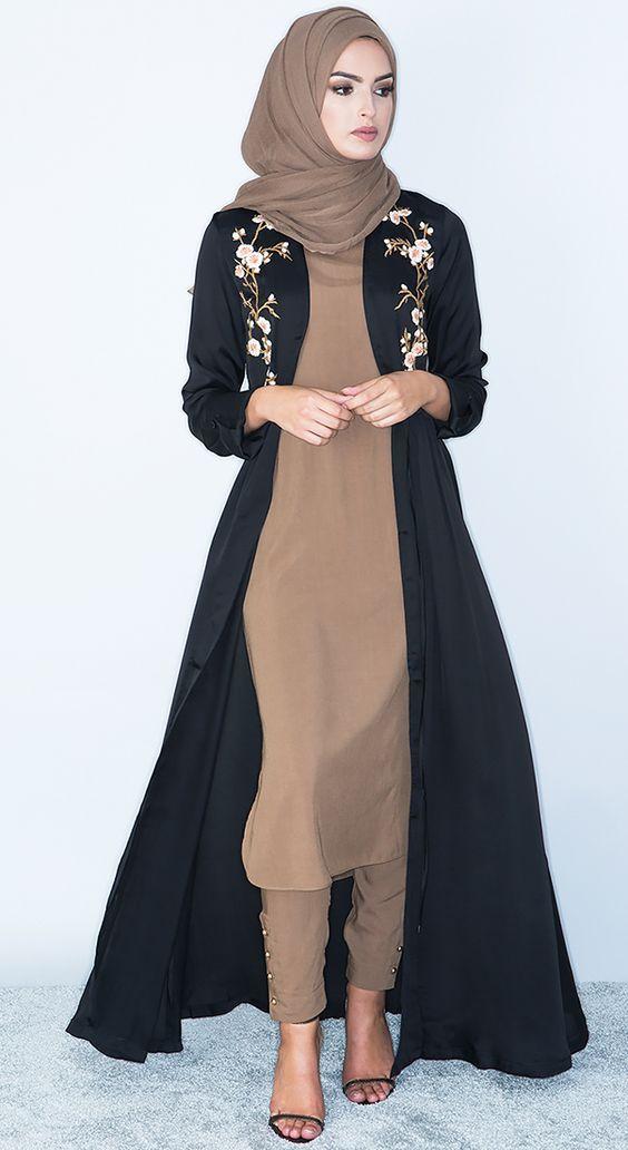 مانتوهای با حجاب استایل های بی نظیر دخترانه و زنانه | مدل مانتو شیک و زیبا با حجاب